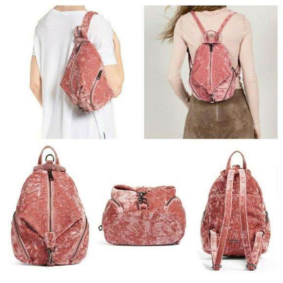 bca69cdb5c0 Rebecca Minkoff Velvet Medium Julian Backpack NWT